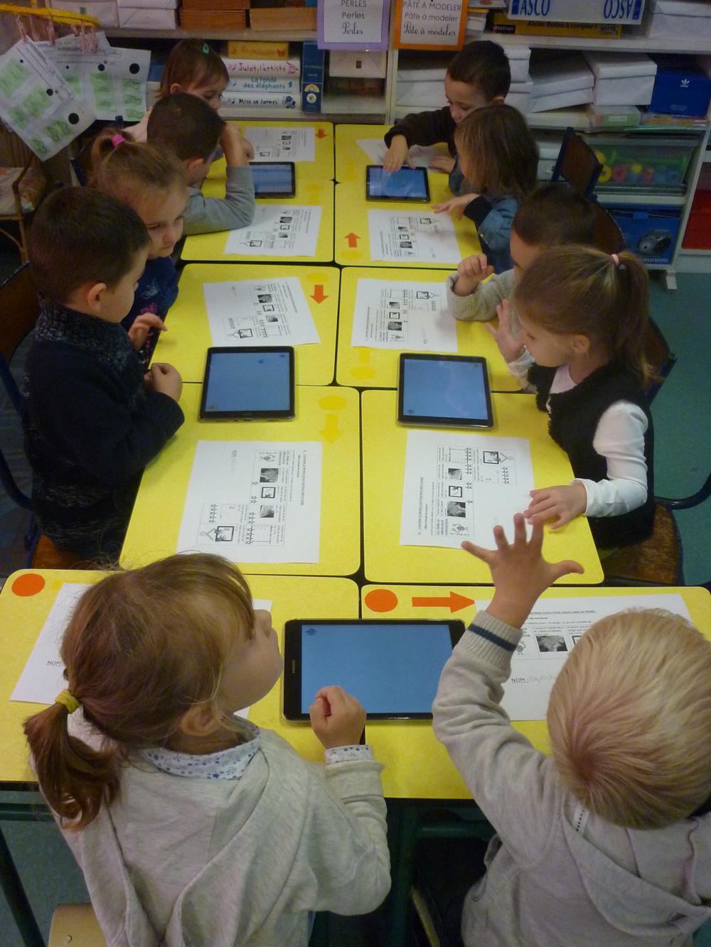 activité numérique classe maternelle saint Amand Bailleul