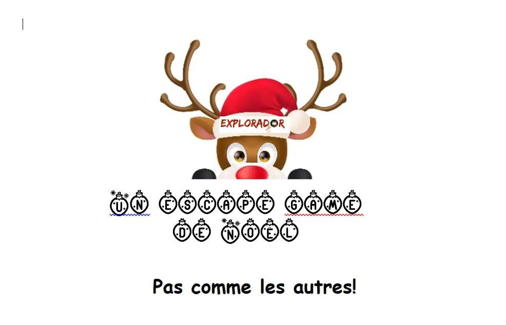 Escape game de Noël en CP