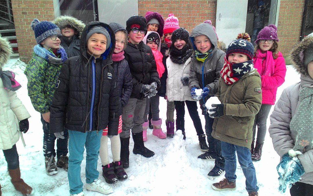 De la neige à Saint Amand.