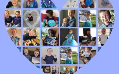 Tous en bleu                                                               pour l'autisme
