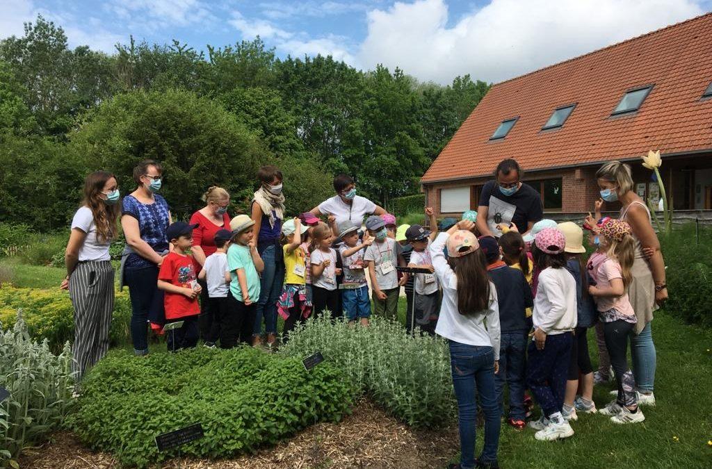 Les élèves de GS/CP, en visite au jardin botanique de Bailleul, passent à la télé…